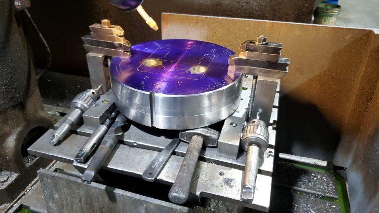 die on drill press w tools