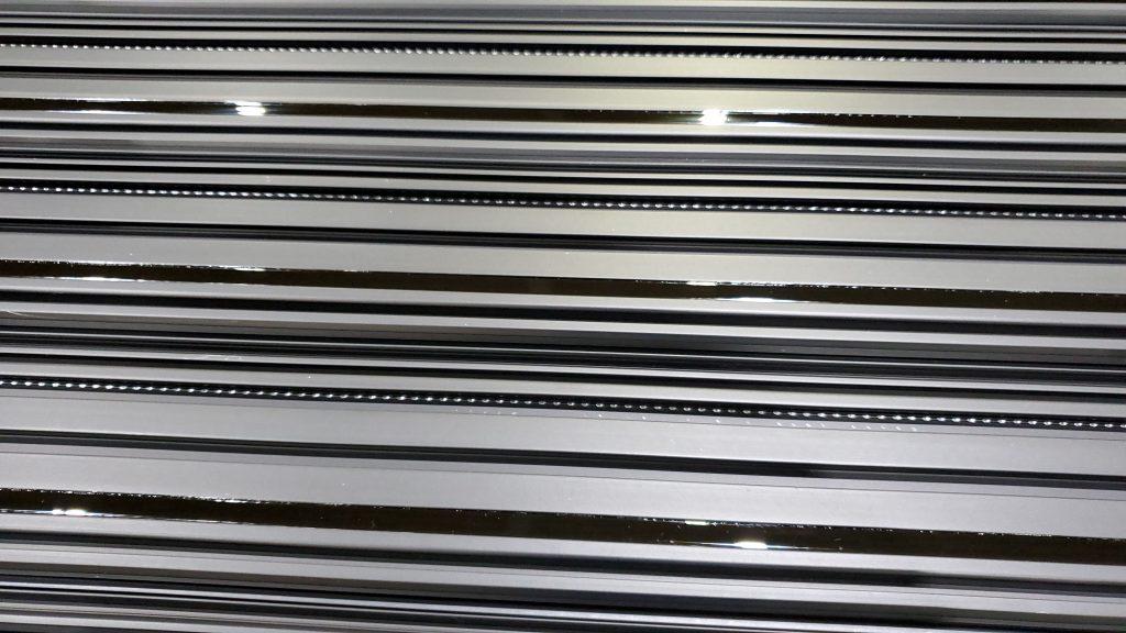 filled metal closeup