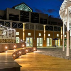 Delaware Technical Community College during the night